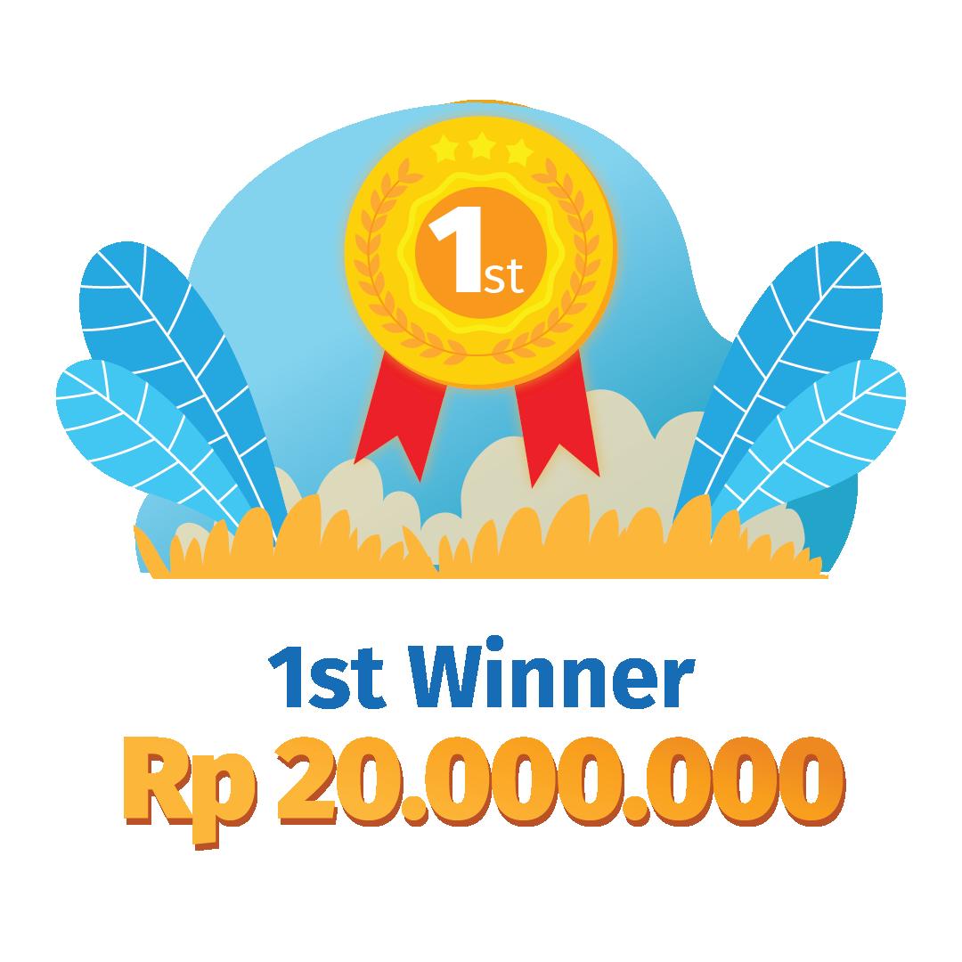 1st Winner Rp 20.000.000