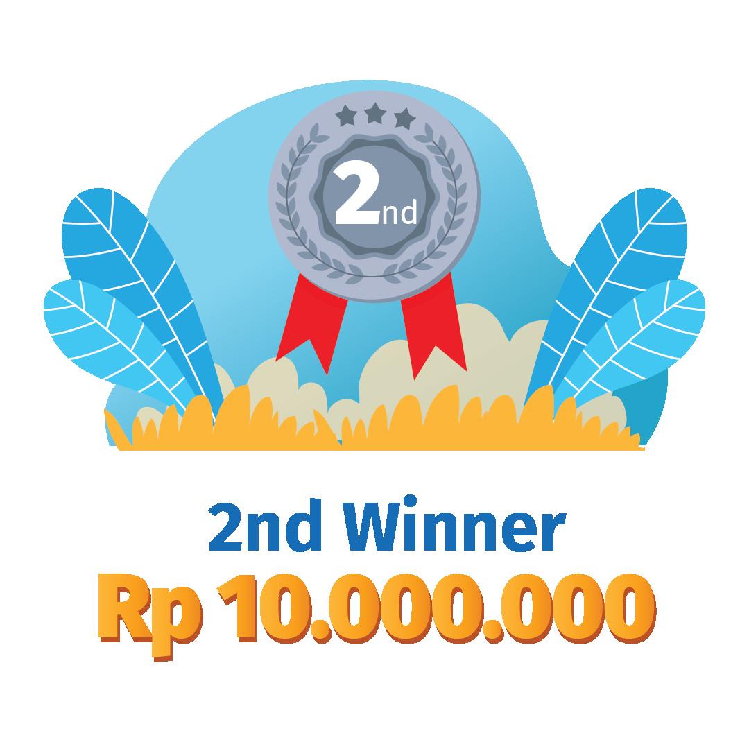 2nd Winner Rp 10.000.000