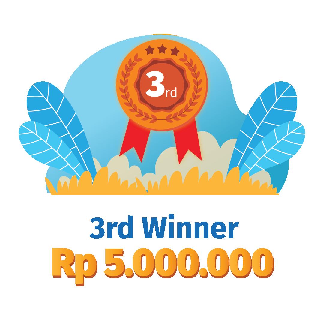 3rd Winner Rp 5.000.000